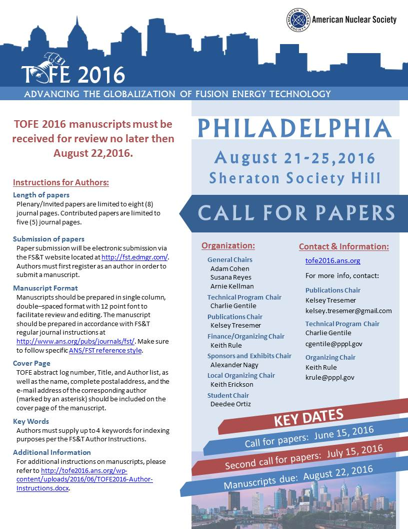 TOFE Call for Papers FINAL
